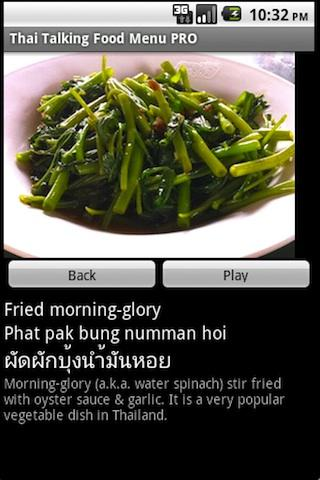 Thai Talking Food Menu Pro - screenshot