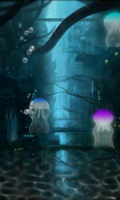 Jellyfish live wallpaper free android apps on google play for Jellyfish wallpaper home
