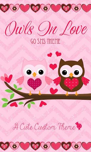 Owls n Love Theme GO SMS