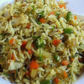 Singapore Vegetable Fried Rice.