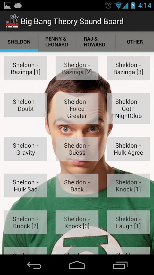 Big Bang Theory Soundboard - screenshot