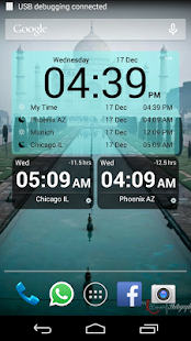 Bob's World Clock Widget- screenshot thumbnail
