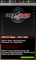 Screenshot of DEFJAY Radio - 100% R&B