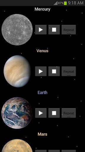 行星和空間的聲音