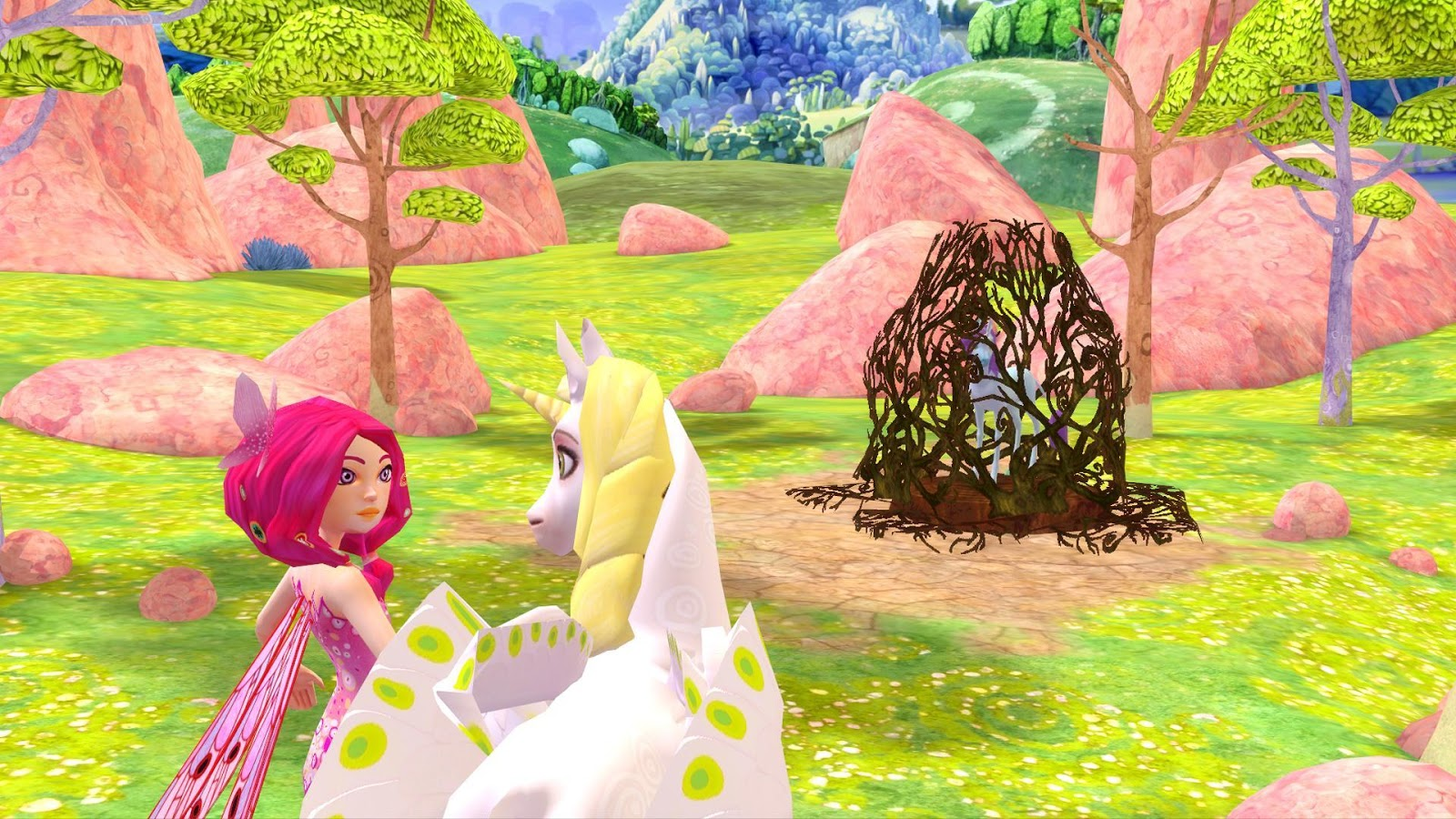 Mia and me unicorn coloring pages - Mia And Me Free The Unicorns Screenshot