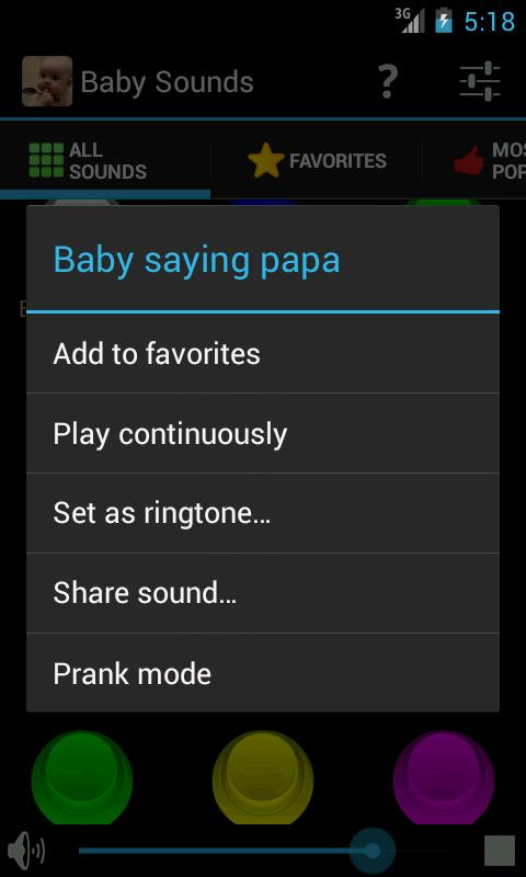 Baby Sounds- screenshot