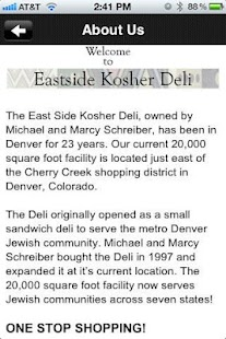 East Side Kosher Deli - screenshot thumbnail