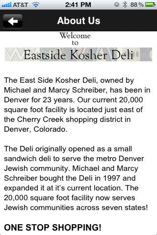East Side Kosher Deli - screenshot