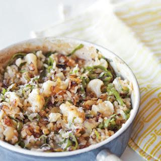 Cauliflower, Onion and Greens Risotto.