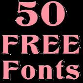 Fonts for FlipFont 50 12
