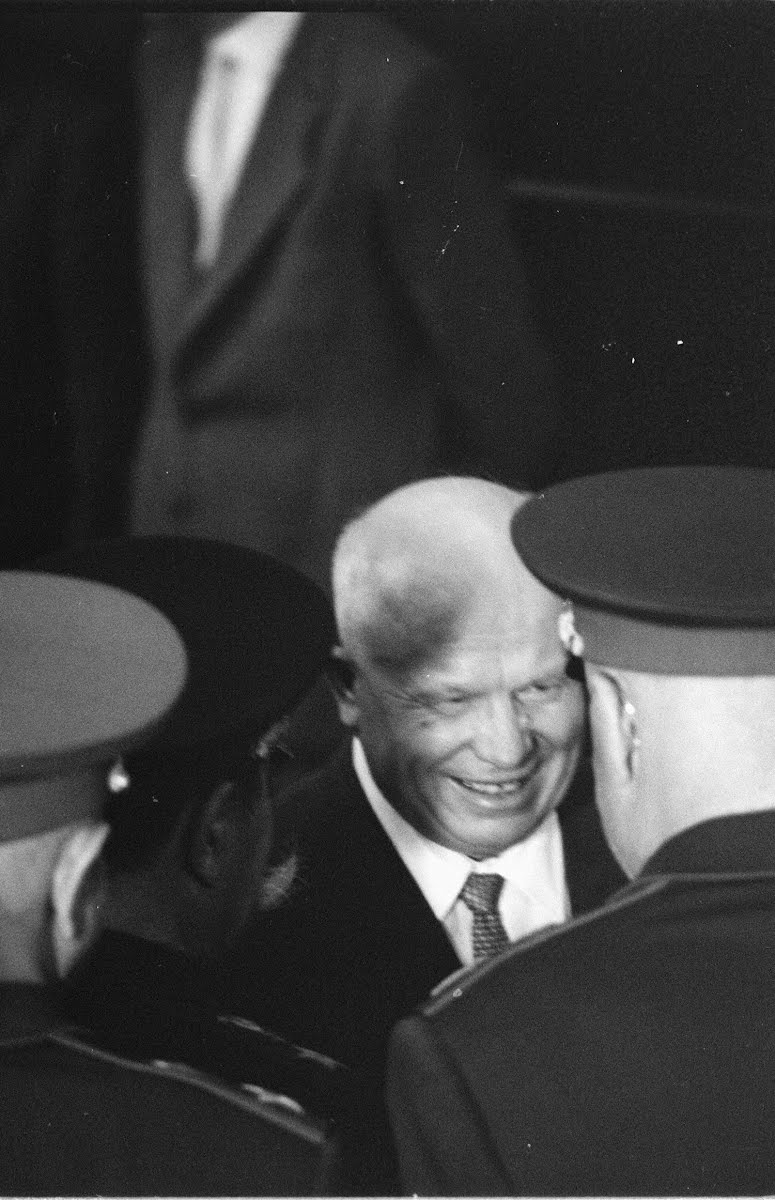Khrushchev Leaving Moscow's Station For Vienna