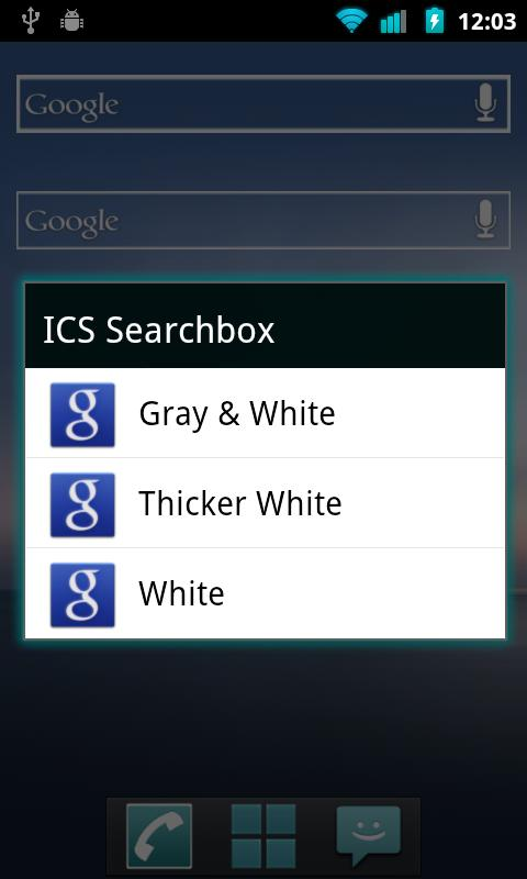 Tiwiz ICS Search Bar - screenshot