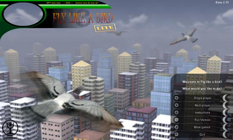 Fly like a bird 3 lite - screenshot