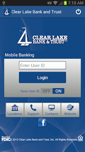 Clear Lake Bank & Trust Mobile - screenshot thumbnail