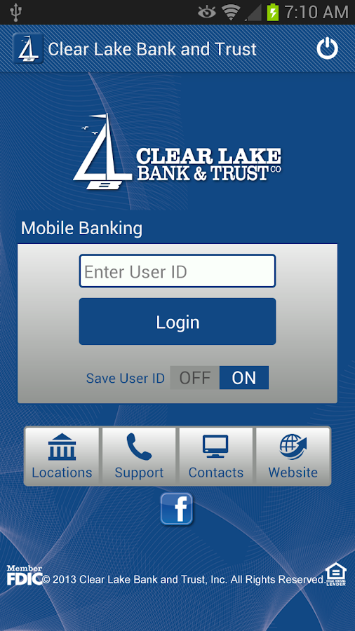Clear Lake Bank & Trust Mobile - screenshot