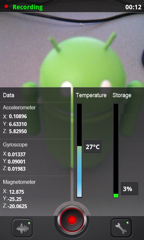 Sensor Data Logger - screenshot