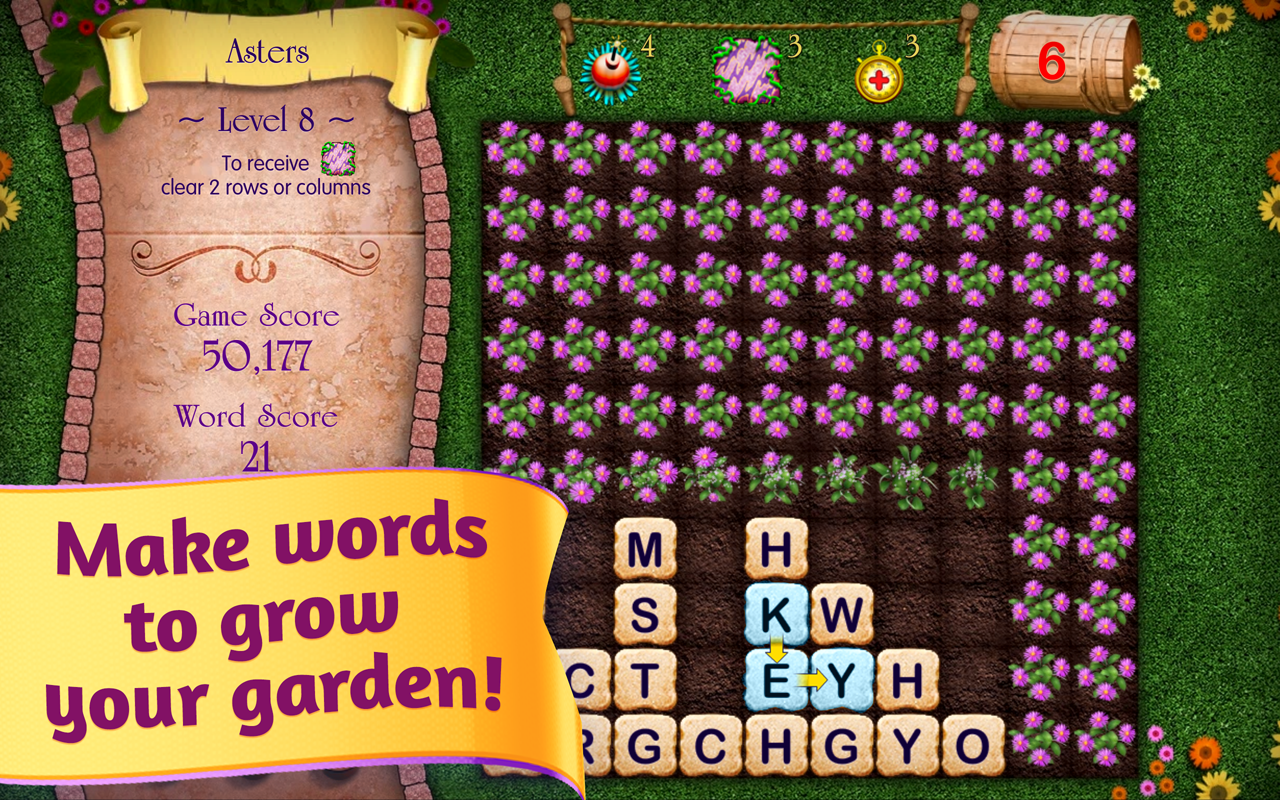 Letter garden android apps on google play for Gardening tools 7 letters