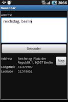 Screenshot of Reverse Geocoder