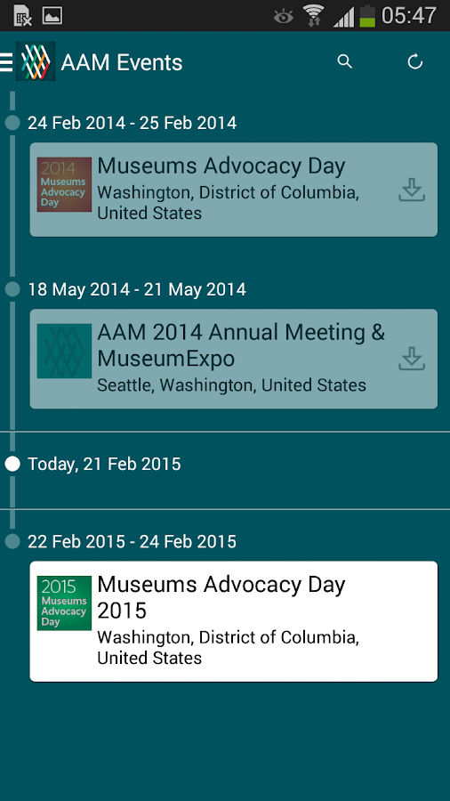 AAM Events - screenshot