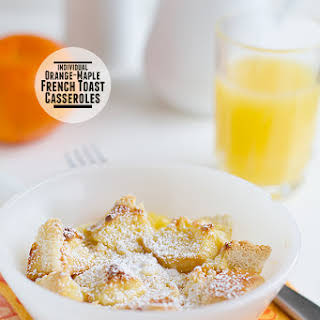 Orange-Maple French Toast Casseroles.