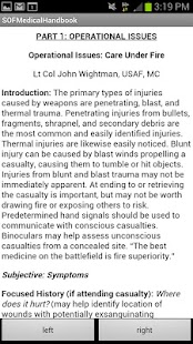SOF Medical Handbook - screenshot thumbnail