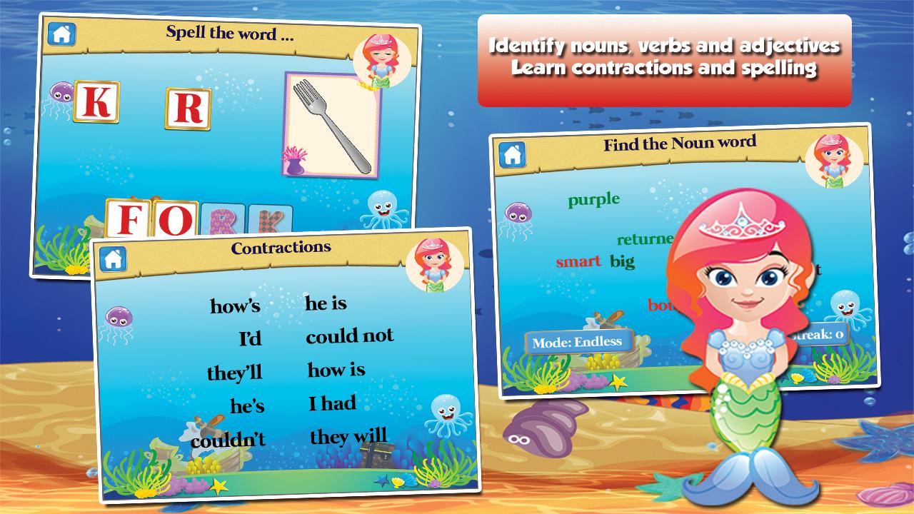 Mermaid Princess Grade 1 Games- screenshot