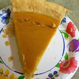 Grandma's Sweet Hubbard Squash Custard Pie.