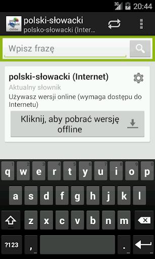 Polsko-Słowacki słownik
