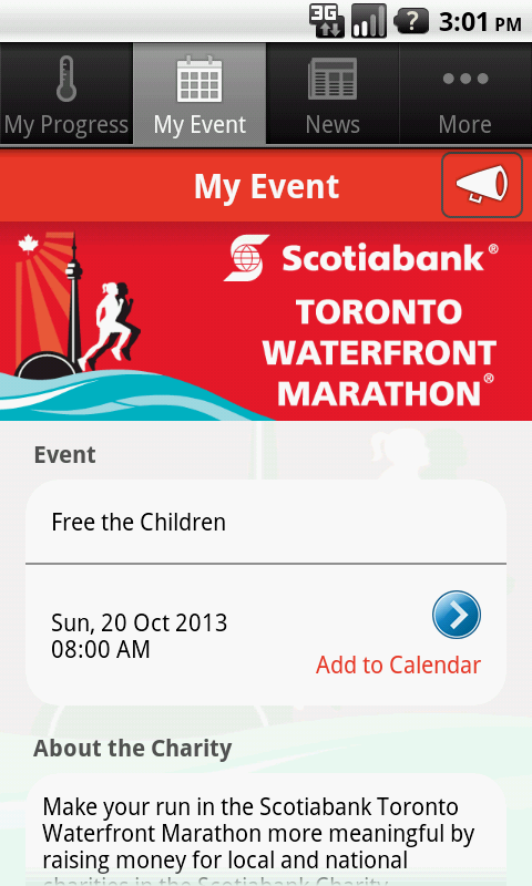 Scotiabank Charity Challenge - screenshot