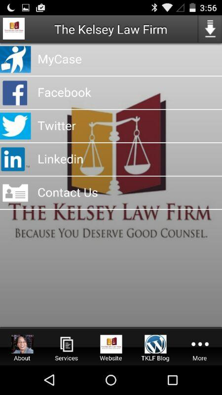 The Kelsey Law Firm- screenshot
