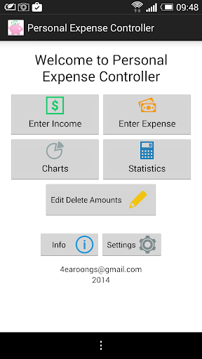 Personal Expense Controller