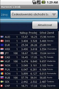 Currency Exchange Rates Screenshot 1