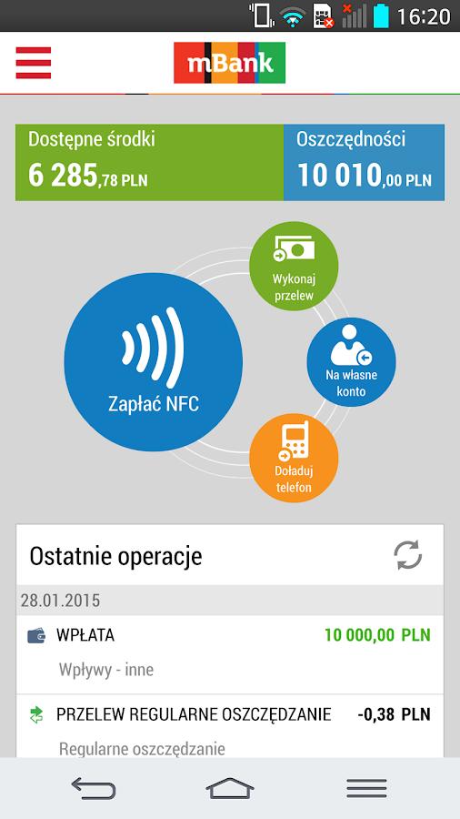 mBank PL - screenshot