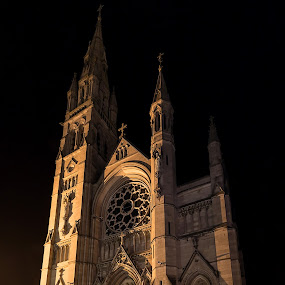 St.Peter's Church Drogheda by Vaidotas Maneikis - Buildings & Architecture Public & Historical ( st.peters, ireland, church, drogheda, night, architecture )