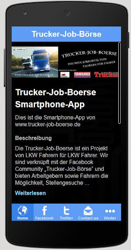 Trucker-Job-Boerse App