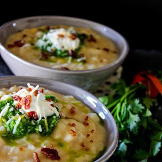 Loaded Baked Potato Soup w/Parsley Pesto