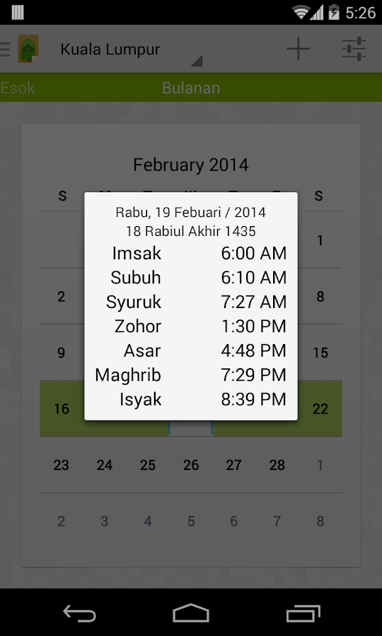 MySolat - Malaysia Prayer Time - screenshot