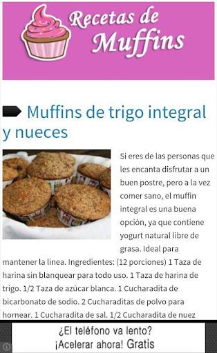Recetas de Muffins - Cupcakes