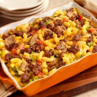Country Sausage Macaroni and Cheese.