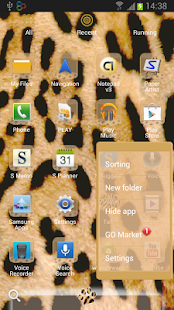 GO Launcher EX Leopard Theme - screenshot thumbnail
