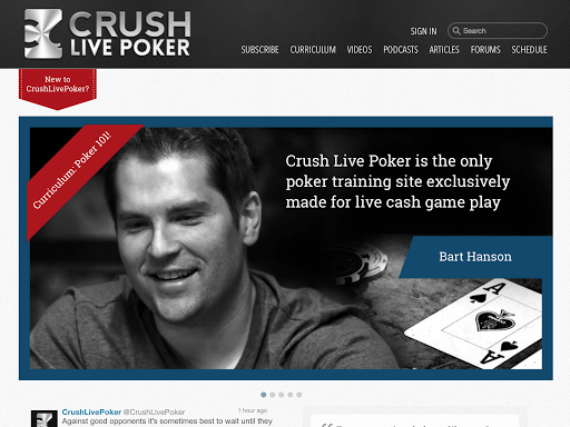 Crush Live Poker app