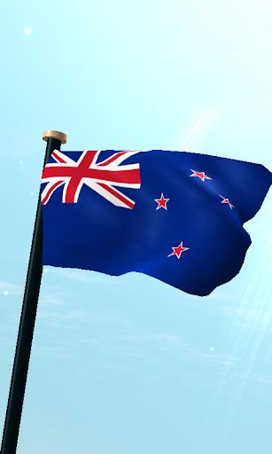 ニュージーランドフラグ3Dライブ壁紙