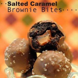 Salted Caramel Brownie Bites.