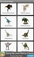 Screenshot of Dinosaur names & their images