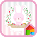 Pink rabbit Dodol Theme icon