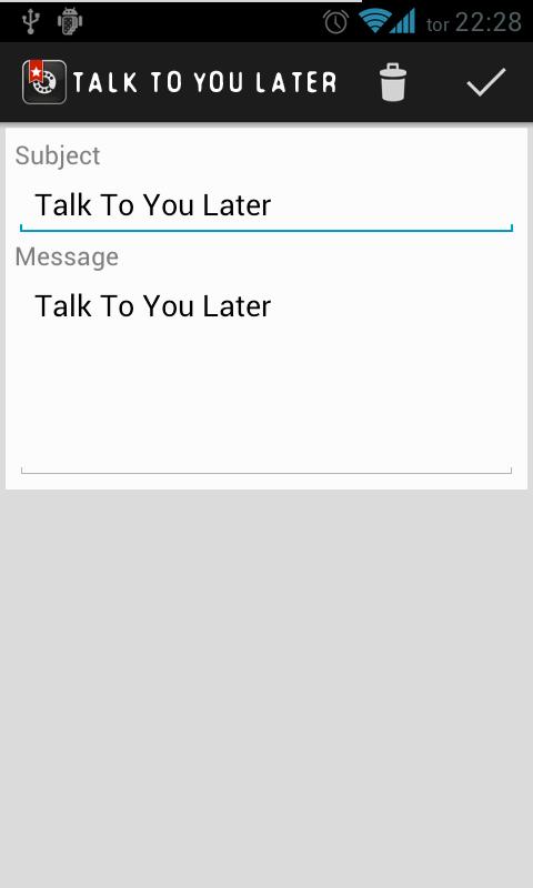 Talk To You Later - screenshot