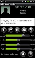 Screenshot of SVOX Spanish Noelia Trial