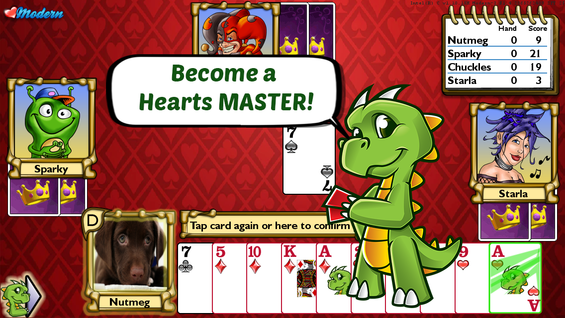 Championship Hearts Card Game- screenshot