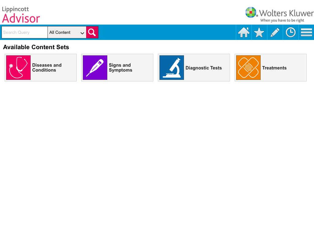 Lippincott Nursing Advisor - screenshot