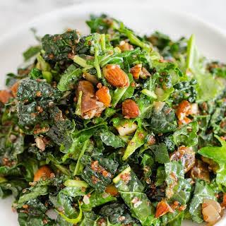 Kale & Quinoa Salad with Dates, Almonds & Citrus Dressing.